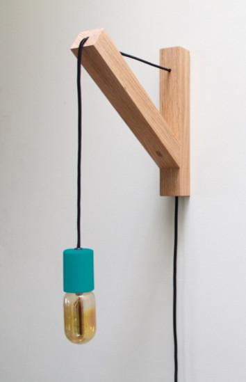 Dino Sanchez Bracket Lamp, Blue eclectic-wall-lighting