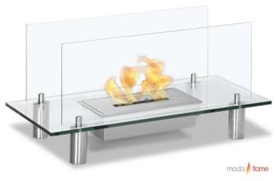 Moda Flame Baza Free Standing Floor Fireplace modern-indoor-fireplaces