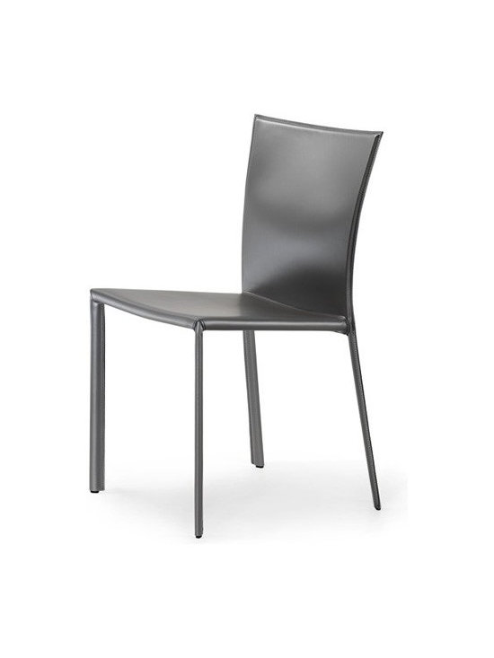Cattelan Italia - Cattelan Italia | Layla Chair - Made in Italy by Cattelan Italia.Push the envelope with the Layla Chair, which breaks the mold of traditional furnishings. Deceptively simple, it features a curved back and angled back legs for supreme comfort. Crafted from a steel frame, it is upholstered in fine Italian soft leather. The Layla Chair is available in a wide selection of soft leather colors to meet your exact design needs and easily matches most modern interiors. Durable and beautiful, it will last for generations to come.