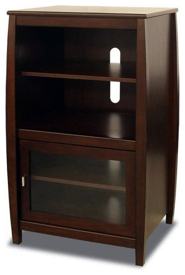 "Tech-Craft Veneto Series Walnut 40"" Wood Audio Rack - Transitional - Entertainment Centers And ..."