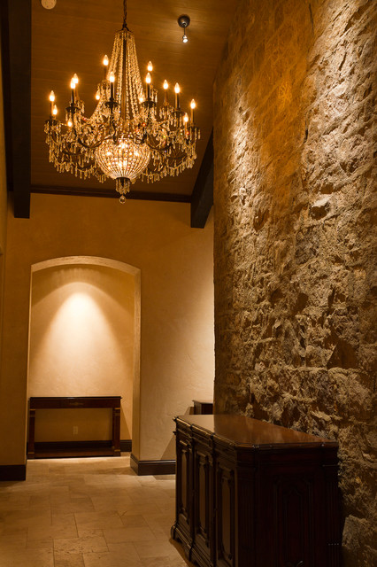 Houzz Rustic Foyer : Rustic country french stone foyer entry