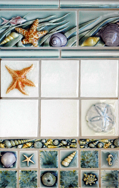 Sealife Marine Theme tropical bathroom tile