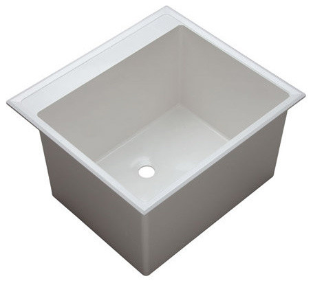 Plastic Utility Sink : ... Plastic Drop-In Laundry Sink with Two - Contemporary - Bathroom Sinks