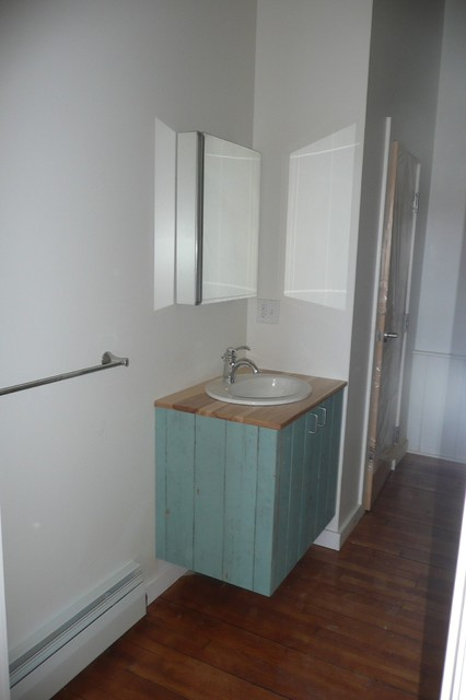Mixed Use Building in downtown Biddeford transitional-bathroom
