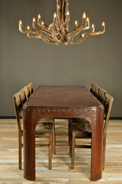 Intriguing Objects Rivet Dining Table by Bobo eclectic-dining-tables