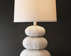 Stacked Sea Urchin Lamp tropical-table-lamps