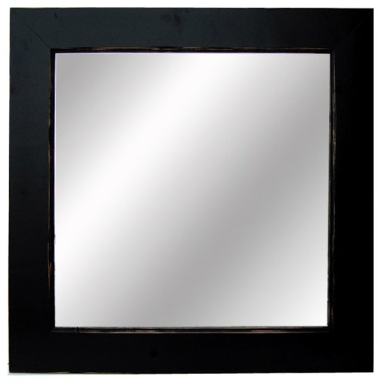 Black Mirrors 26x30 Black Wood Framed Sundance Mirror rustic-mirrors