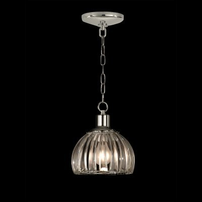 Dale Tiffany San Bruno Pendant - 7.5W in. Polished Chrome modern ceiling lighting
