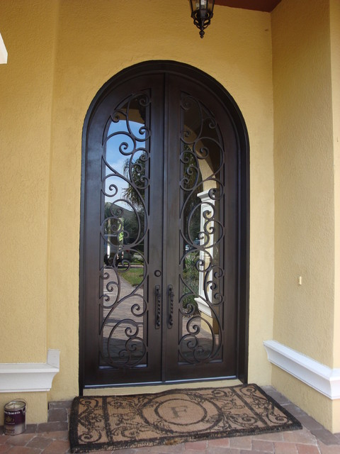 1000 images about wrought iron steel storm doors on for Door design of iron