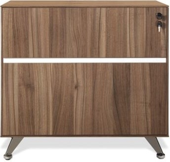 300 Lateral File Cabinet in Walnut - Modern - Filing Cabinets - miami ...