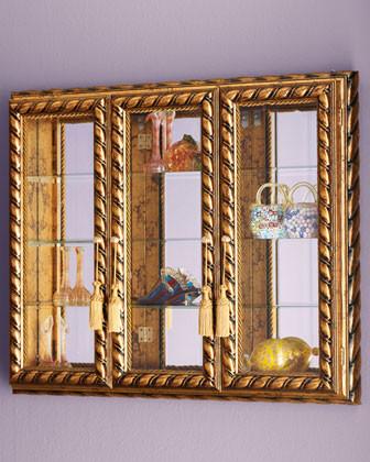 Triple Door Vitrine traditional-storage-cabinets
