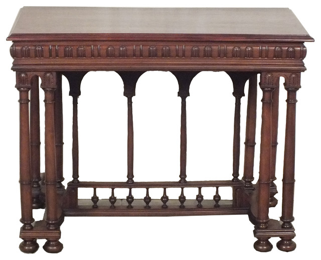 French Renaissance Style Writing Desk Traditional Desks And Hutches