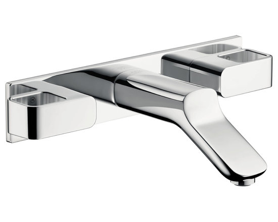 Axor Urquiola - Axor Urquiola Wall-Mounted Widespread Faucet Trim with Baseplate