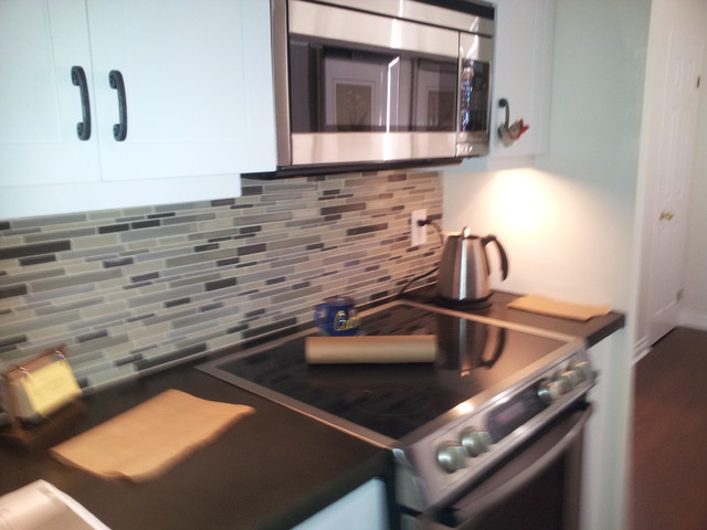 In a High Rise Condo traditional-kitchen