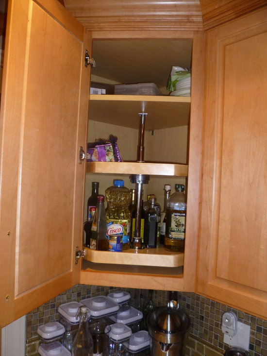 ShelfGenie Lazy Susan - Make the most of your corner cabinet storage space with a Lazy Susan from ShelfGenie, custom made to fit  your existing cabinet.