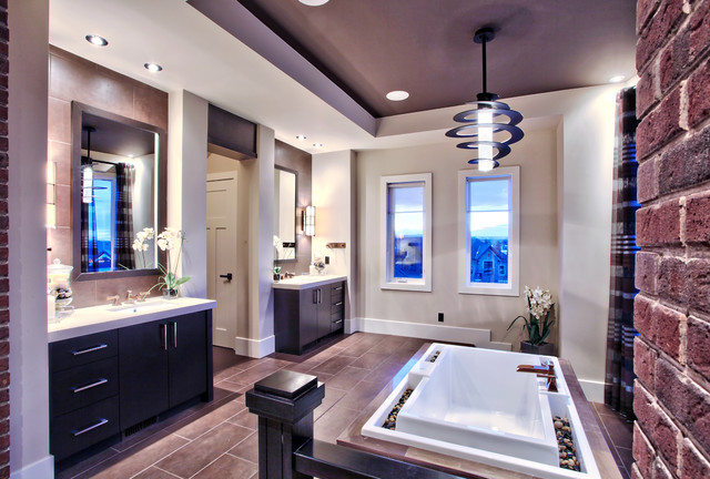 2012 Foothills Lottery Home contemporary-bathroom
