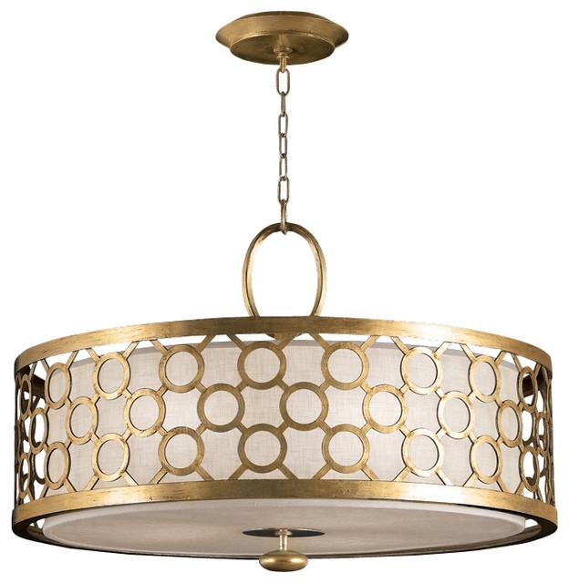 Fine Art Lamps Allegretto Gold Pendant 780140 2ST