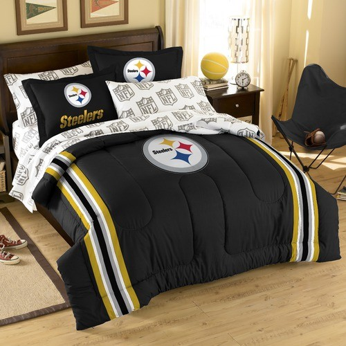 nfl pittsburgh steelers embroidered twin full comforter
