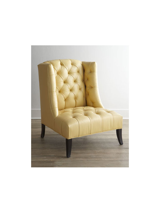 """Old Hickory Tannery - Old Hickory Tannery """"Windmere"""" Leather Chair - Functionally chic—this soft-to-the-touch, deeply tufted leather chair is sure to please with its timeless and graceful styling and durability. Blends beautifully into home or work decor. From Old Hickory Tannery®. Frame made of hardwood; le..."""