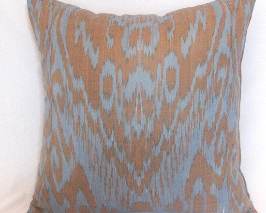 ikat pillow covers, ikat, ikat cushion, yellow ikat, blue ikat, red ikat, ikat - ikat pillow cover, chocolate ikat 20x20