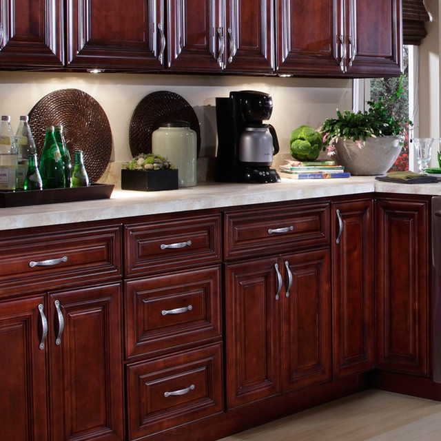 B Jorgsen Co St James Mahogany Kitchen Cabinets Traditional Kitchen Cabinetry Detroit