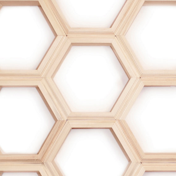 Unfinished Individual Hexagon Shelves By Haase Handmade