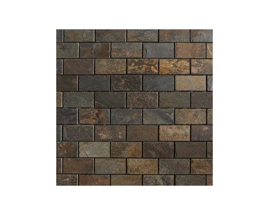 "1""x2"" Multicolor Slate Natural Stone Mosaic -"
