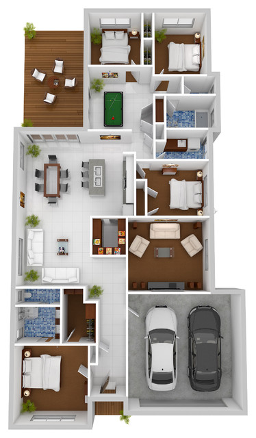 3d floor plans floor plan brisbane by budde design House plan 3d view