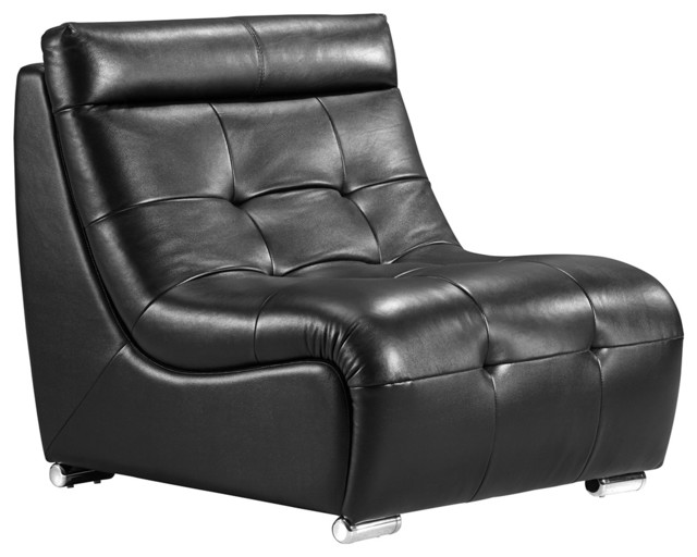 Zuo Object Black Modular Sofa Single Chair contemporary-living-room-chairs