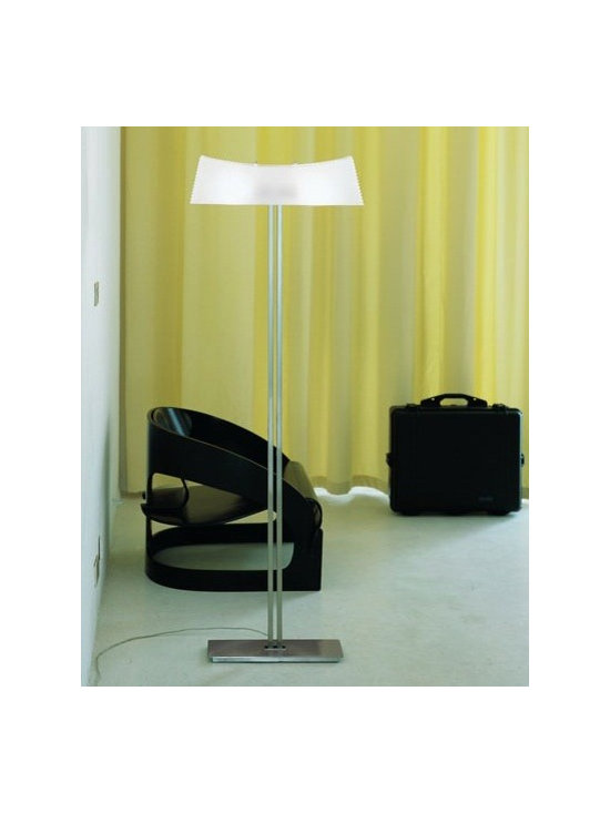 Kimilla Floor Lamp by Penta Light - Kimilla Floor Lamp by Penta Light. Lamps with metal structure in nickel satin. Shade in blown glass: transparent/mat or fumé. Wall lamps only transparent/ mat shade. Kimilla Floor Lamp by Penta Light are designed by Umberto Asnago.