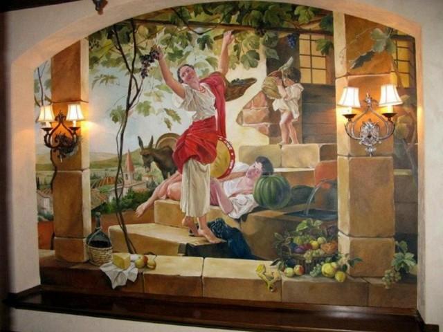 Murals traditional-wine-cellar