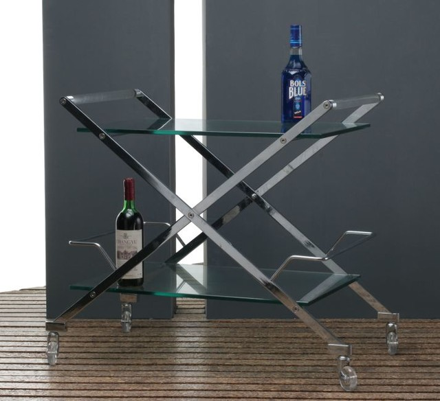 Glass Bar Cart contemporary-bar-carts