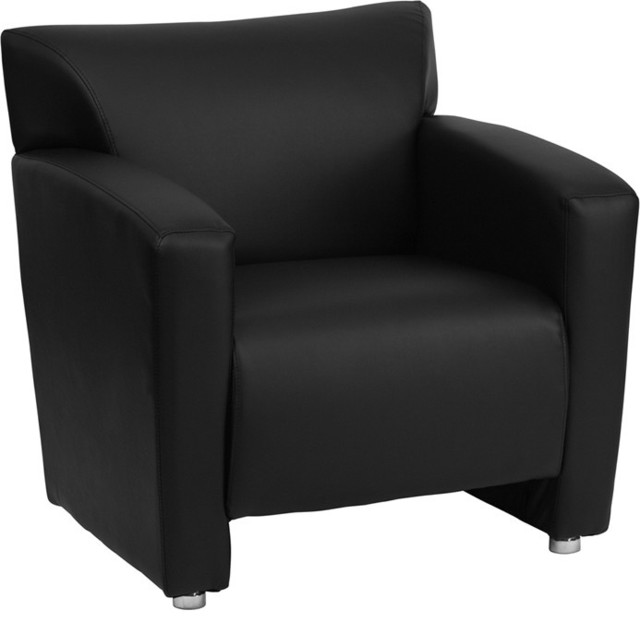 Majesty Black Leather Chair contemporary-armchairs-and-accent-chairs