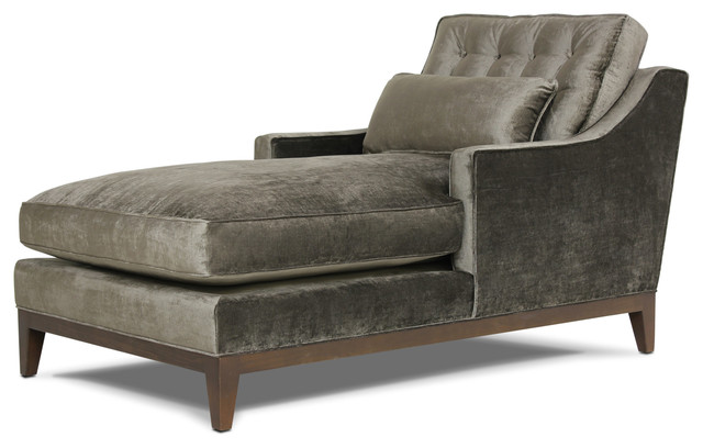 Alva chaise smoke modern indoor chaise lounge chairs for Ava chaise lounge