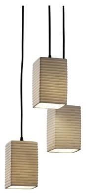 Justice Design Group Limoges POR-8864-15-SAWT-MBLK Small 3-Light Cluster Pendant modern-ceiling-lighting