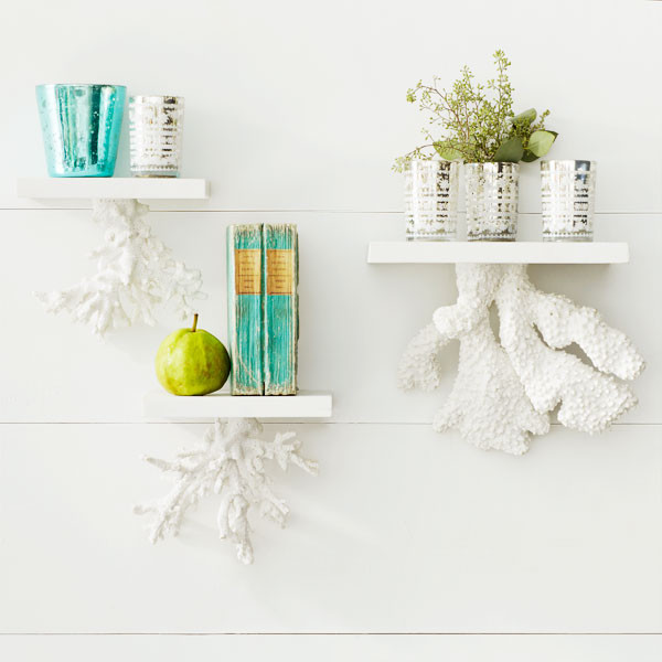 Floating Coral Shelf tropical wall shelves