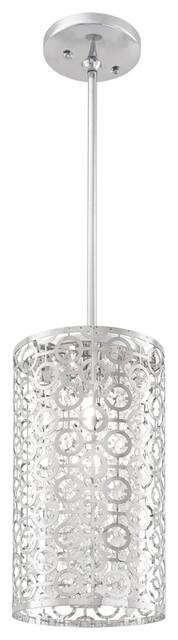 "Dvi Lighting DVP5821CH-CRY 6"" Mini Pendant modern-pendant-lighting"