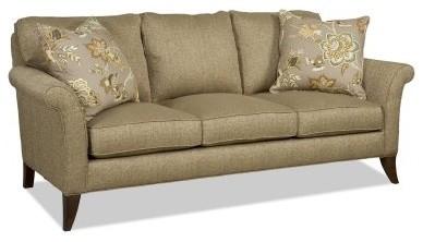 Sam Moore Quinn 3 over 3 Sofa - Jute modern-sofas