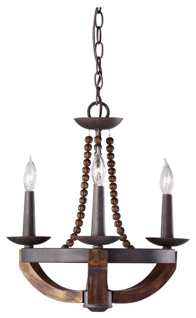 Feiss Adan 3 Light Chandelier in Rustic Iron and Burnished  : chandeliers from www.houzz.com size 394 x 640 jpeg 32kB