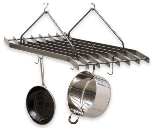 Hammered Steel Z Pot Rack contemporary-pot-racks-and-accessories