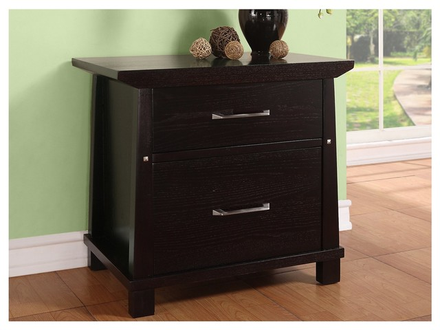 Martin Home Furnishings Kyoto 2-Drawer Wood File Cabinet, Dark Chocolate Finish transitional-filing-cabinets-and-carts