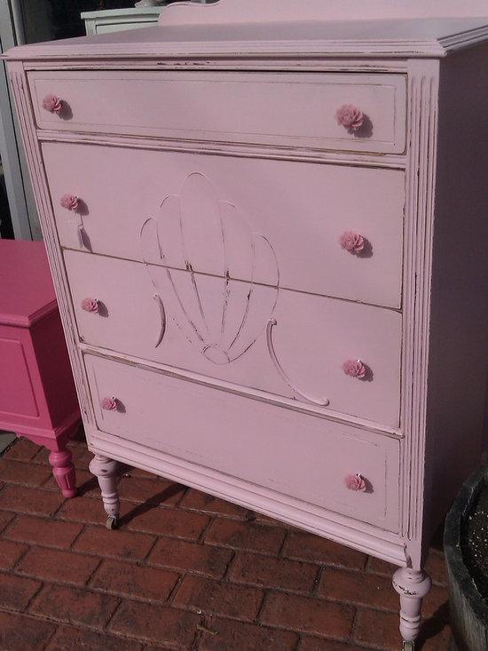 antique dresser shabby chic distressed pink by www.vintagechicfurniture.com - www.vintagechicfurniture.com