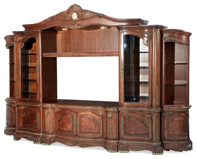 AICO Furniture, Cortina Entertainment Center victorian-entertainment ...
