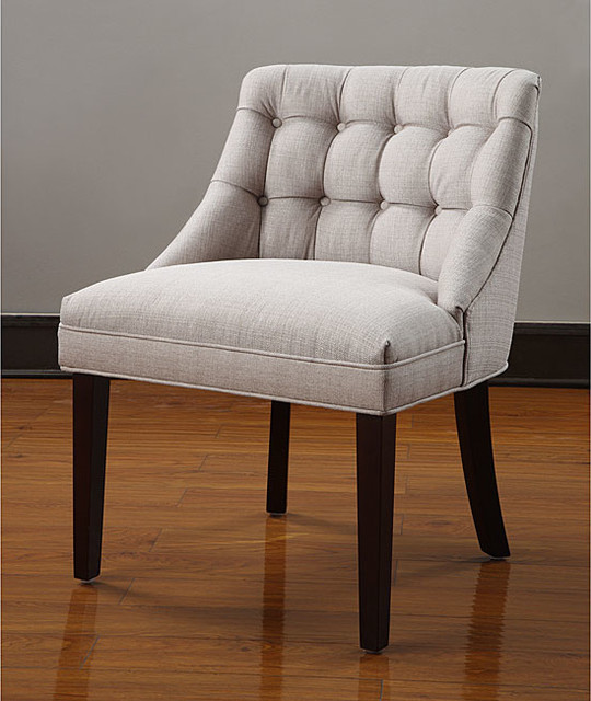 Belmont tufted back chair contemporary armchairs and Tufted accent chair