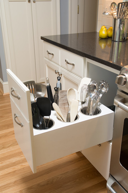 Creative Utensil Storage - Traditional - Kitchen - portland - by Kirstin Havnaer, Hearthstone ...