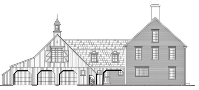 Plan 530-2  by Classic Colonial Homes traditional-exterior-elevation