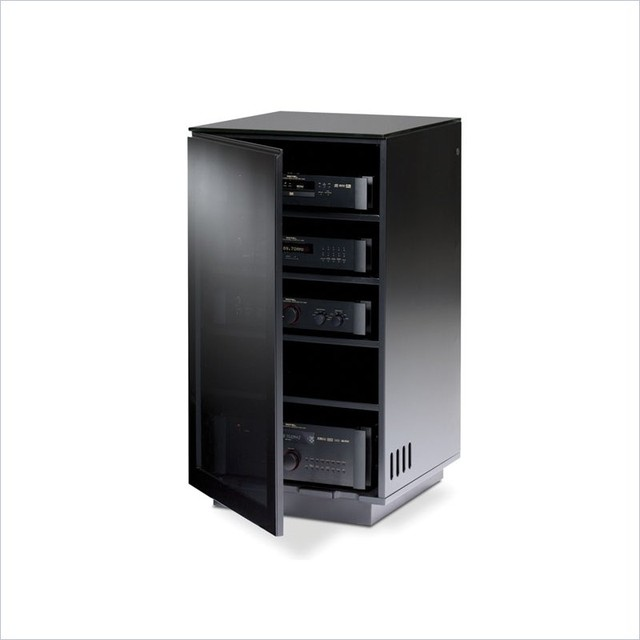 BDI Mirage AV Tower in Black - Contemporary - Media Cabinets - vancouver - by Cymax