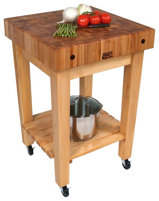 John Boos Gourmet Block Maple Butcher Block Stand Or Cart