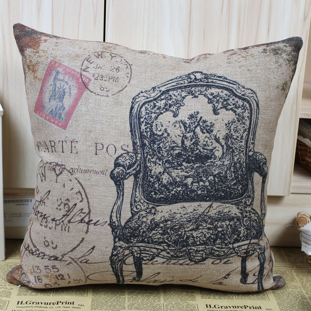 Shabby Chic Linen Pillows : Shabby Chic Armchair Linen Pillow Cases for Home Decor - Traditional - Throws - other metro - by ...