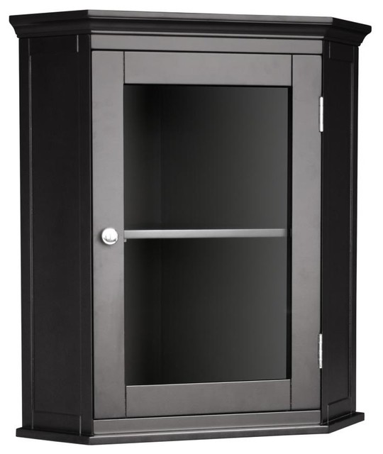 Madison Avenue Corner Wall Cabinet - Transitional - Medicine Cabinets - by Elegant Home Fashions